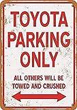 MiMiTee Toyota Parking Only Blechschild Vintage Metall