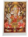 Bild Durga auf Tiger 92 x 62 cm Gottheit Hinduismus
