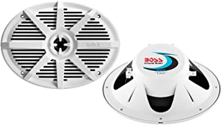 BOSS Audio Systems MR692W 350 Watt Per Pair, 6 x 9 Inch, Full Range, 2 Way Weatherproof Marine Speakers Sold in Pairs