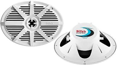BOSS Audio Systems MR692W 350 Watt Per Pair, 6 x 9 Inch, Full Range, 2 Way Weatherproof Marine Speakers Sold in Pairs