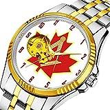 時計 機械式時計 メンズウォッチクラシックスタイルのメカニカルウォッチスケルトンステンレススチールタイムレスデザインメカニ (ゴールド)-270. カナディアン石工