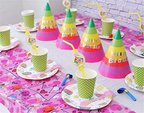 Papier Borden Wegwerp Platen Party Plates Platen Bekers Bowls Vorken Diner Camping Eco Party Dress Up 10 Mensen Verjaardag Tafelgerei Wegwerp Papier Cup Props Pakket