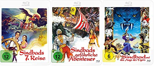 Sindbads 7. Reise + Sindbads gefährliche Abenteuer + Sindbad und das Auge des Tigers [Blu-ray Set]