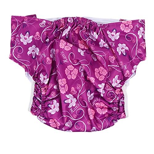 DOITOOL Pañal grande para adultos, reutilizable, lavable, ajustable, para cuidado de la incontinencia, ropa interior, adecuado para hombres y mujeres, color morado
