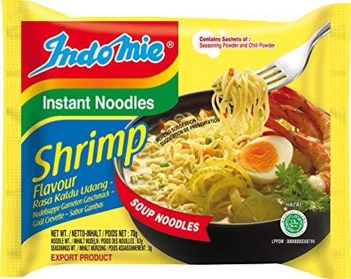 INDOMIE Instantnudeln Shrimps, aus Indonesien, schnelle, einfache Zubereitung – 40er Vorteilspack à 70 g