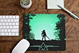 Inspired by Legend of Zelda Mouse Pad Triforce Mat Square Round Shape Mousepad G6