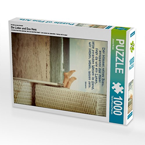 CALVENDO Puzzle Die Liebe und Das Herz 1000 Teile Lege-Größe 48 x 64 cm Foto-Puzzle Bild von Joana Kruse