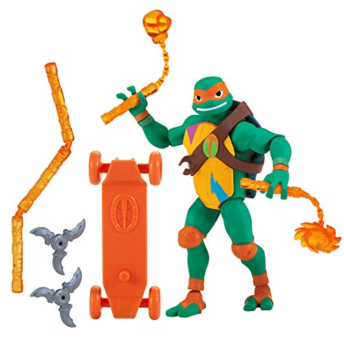 Rise of the Teenage Mutant Ninja Turtles 80803 ROTMNT Michelangelo Basic Action Figur, mehrere Farben
