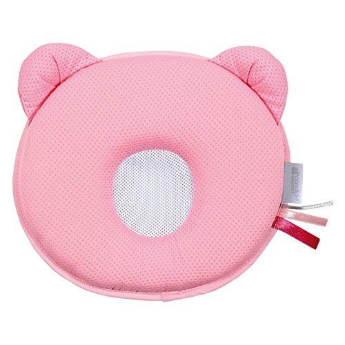 Candide Air + P'tit Panda - Almohada ergonómica para bebé, Rose, Color Rose