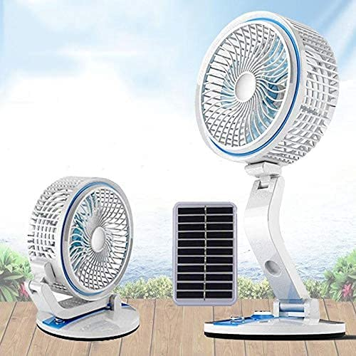 Veecap POWERFULL PORTABLE RECHARGEABLE MULTI FUNCTION TABLE DESK FAN FOR HOME KITCHEN OFFICE MULTICOLOUR ASSORTED 6 INCH FOLDABLE LED LIGHT FAN