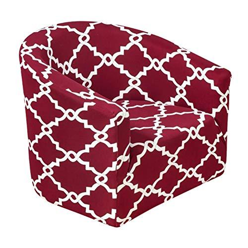 Serenable Capa para Sofá Individual Capa Elástica de Poliéster Extensível Protetor de Poltrona Capa Protetora - Vermelho