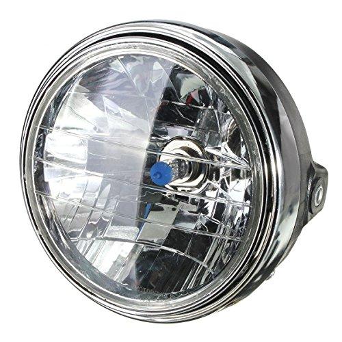 "SODIAL(R) 7 pouces 7"" moto 12V phare halogene rond H4 ampoule phare cote"