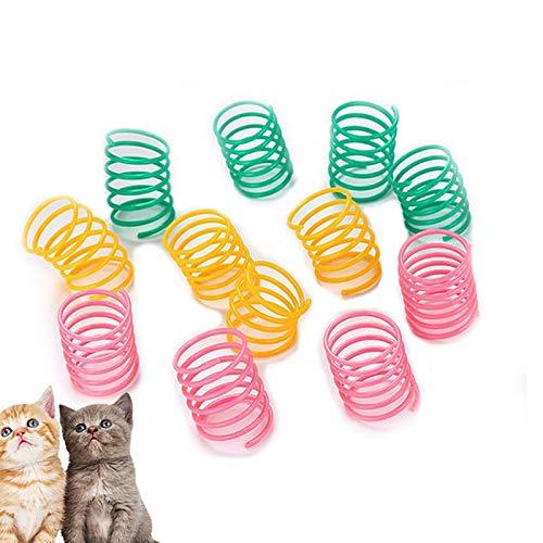 Yolistar 24 Piezas Juguete para Gato, Juguetes para Gato con Muelles, Juguete Colorido del Gato Primavera, Espiral de Plástico Muelles, Gatito Novedad Regalo Juguetes para Mascotas Interactiva