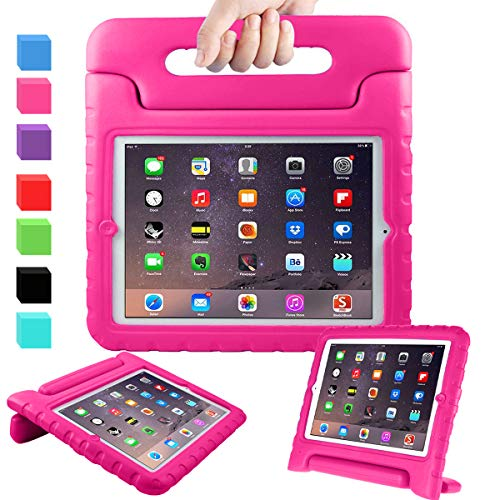 AVAWO Kids Case for 9.7' iPad 2 3 4 (Old Model) - Light Weight Shock Proof Convertible Handle Stand Kids Friendly for iPad 2, iPad 3rd Generation, iPad 4th Generation Tablet - Magenta/Rose