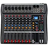 Depusheng 8 Channel Sound Mixing Console Bluetooth USB Record Computer Playback Phantom Power Effect 8 Channels USB Audio Mixer