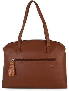 Baggit Autumn/Winter 2021 Faux Leather Women's Bowling Handbag (Tan) (Clumpy)