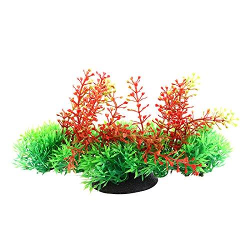 sourcingmap Kunstpflanze für Aquarium, Amaranth/Fuchsschwanz, Kunststoff, 19cm, Grün