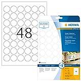 HERMA Etichette per Marcatura, Ø 30 mm, Etichette Adesive A4 per Stampante, 48 Etichette ...