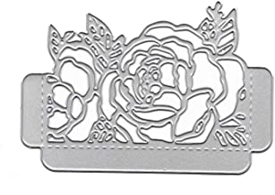 liumiKK Rose Flower Invitation Metal Cutting Dies Stencil DIY Scrapbooking Album Stamp Paper Card Embossing Craft Decor
