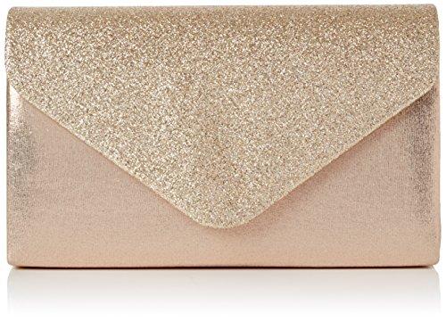 SwankySwans Femme Kelly Paillettes enveloppe Pochette de soirée fête Bal Sac d'embrayage - or - Gold (Champagne),