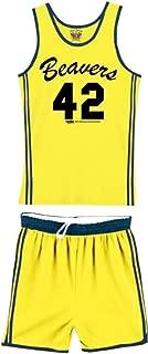 Teen Wolf Beavers 42 Scott Howard Werewolf Basketball Jersey Complete Costume