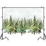 Fondo de fotografía de Paisaje de Naturaleza Acuarela Copo de Nieve de Invierno Fondo de Foto de bebé recién Nacido Daojun A1 7x5ft / 2,1x1,5 m