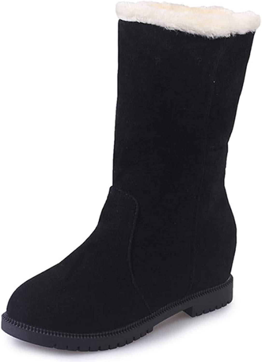 Fay Waters Women's Fur Down Cute Warm Ankle Boots Plush Anti Slip Round Toe Winter Snow Booties