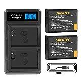 Shentec 2 LP-E10 Batería de repuesto para EOS Rebel T3 T5 T6 Kiss Kiss X50 X70 1100d EOS EOS 1200D EOS 1300D EOS 4000D EOS 3000D EOS 2000D Camara Digita