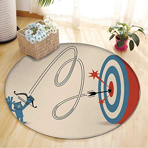 Smiling Businessman Rug at Big Target with Bow and Arrow Area Rugs,042527 Runner Rug for Hallway,5 ft