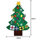 COOFIT Filz Weihnachtsbaum,Weihnachten Deko 3.2ft DIY Filz Weihnachtsbaum Set mit 28 Pcs Deko Weihnachten Weihnachtsspiel Kinder Spielzeug - 4