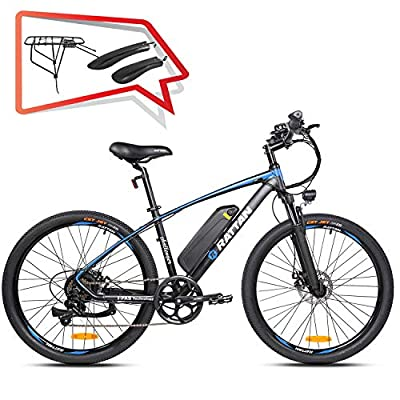Rattan Challenger 26 Inch Electric Bicycle 48V 10.4Ah Removable Lithium Battery I-PAS System Intelligent LCD Diaplay Ebike for Adults 7 Speed Shifte 350W Mountain Bike