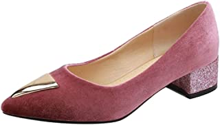 FANIMILA Women Comfort Low Heel Court Shoes