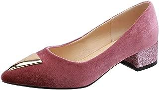 FANIMILA Women Comfort Low Heel Court Shoes
