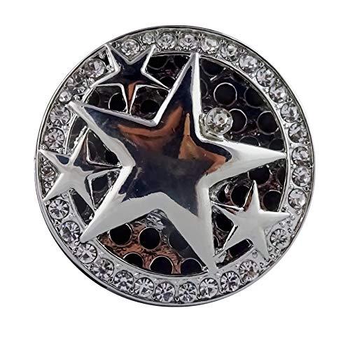 Magnetbrosche, Clip, Schmuckanhänger, Tuchhalter 4 Sterne
