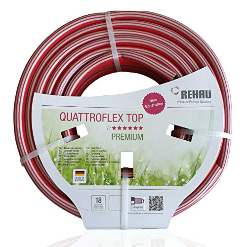 REHAU 18441 0 Quattro Flex Top Tuyau d'arrosage, Longueur 25 m, Rouge, 19 mm, 3/4 \