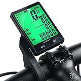 INBIKE Ordenador inalámbrico para bicicleta, multifunción, impermeable, velocímetro de bicicleta, luz verde con soporte