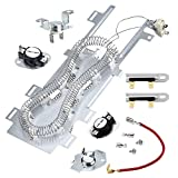 Cenipar 8544771 Dryer Heating Element&279816 Thermostat Kit &279973 &3392519 Thermal Fuse Compatible with Whirlpool Dryer