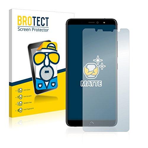 BROTECT 2X Entspiegelungs-Schutzfolie kompatibel mit BQ Aquaris X2 Bildschirmschutz-Folie Matt, Anti-Reflex, Anti-Fingerprint