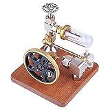 EWGAO Modelo de Motor Stirling, Mini Generador de energía de Aire Caliente Modelo de Electricidad Generador de Electricidad Juego de Juguetes para niños para niños