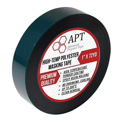 APT,2 Mil Polyester Tape with Silicone Adhesive, PET Tape, high Temperature Tape, 3.5 mil Thickness, Powder Coating, E-Coating (1, 1