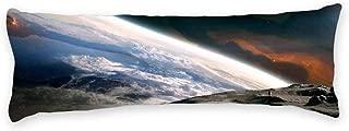 AILOVYO Galaxy World Machine Washable Silky Shiny Satin Decorative Body Pillow Case Cover, 20-Inch x 54-Inch