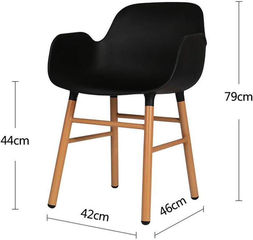 Chaise de Salle à Manger Nordic Chair Chaise En Bois Massif Chaise En Bois Chaise Dos Chaise Tabouret Maison Chaise De Loisirs Restaurant Café Tabouret De Bar (Color : Gray) Black