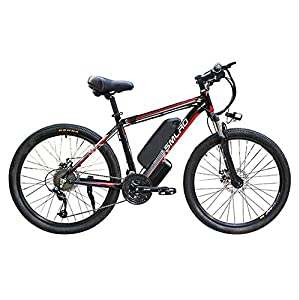 MMRLY Adult Electric Mountain Bike Offroad Elektro Bike48v Lithium-Batterie High-Strength Stahlrahmen elektrisches Fahrrad / 27 Speed ​​/ 26-Zoll-Räder