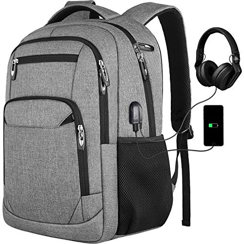 Laptop Backpack,School Backpack College Backpack Business Backpack for Men and Women,Bookbag with USB Charging Port Fits 15.6 Inch Laptop and Notebook