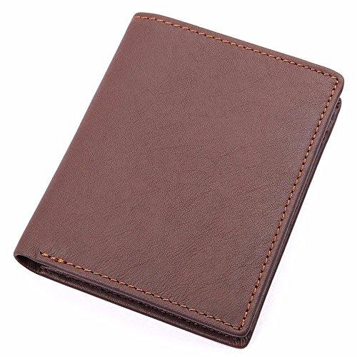 NWMTF männer lederbrieftasche - litschis Muster Freizeit kurz, Multi - Card mit Null Brieftasche,Kaffee