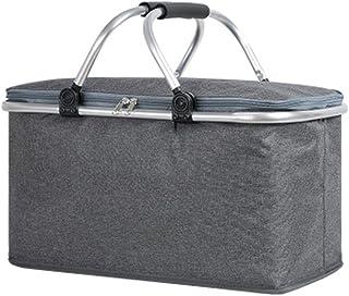 Blankspace Panier de pique-nique pliable pour pique-nique, camping, randonnée, seau à glace, panier de rangement, boîte de...