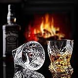 Premium Code Whisky Gläser 2er Set 340 ml- Kristallgläser für Whiskey Rum Bourbon Scotch Cognac und Brandy mit Eleganter Geschenkbox - Santoryszki
