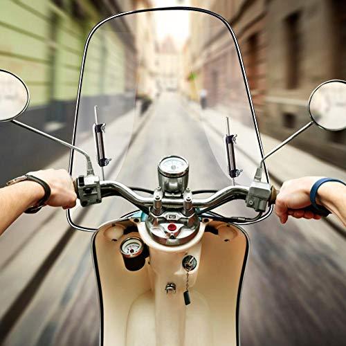 LUCYPAPASHOW 425mm X 460mm Windschutzscheibe Universal Spoiler Motorrad Für Motorräder, Elektroautos, Roller
