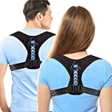 Updated 2020 Version Perfect Adjustable Posture Corrector for Men and Women - Upper Back Brace for Clavicle Support and Providing Pain Relief from Neck Shoulder Upright Straightener Comfortable