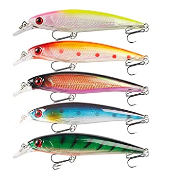 Fishing Lures Kit Minnow Lures Hard Bait CrankBait Fishing Tackle Topwater Baits for Bass